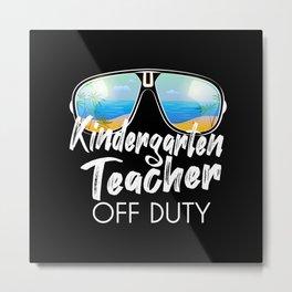 Kindergarten teacher off duty sunglasses beach Metal Print