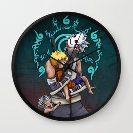 Taking Naruto Home 2 Wall Clock