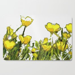 Buttercups bywhacky Cutting Board