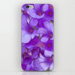 Purple Oxalis iPhone Skin
