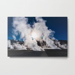 Tatio Geysers in the Atacama Desert, Chile Metal Print