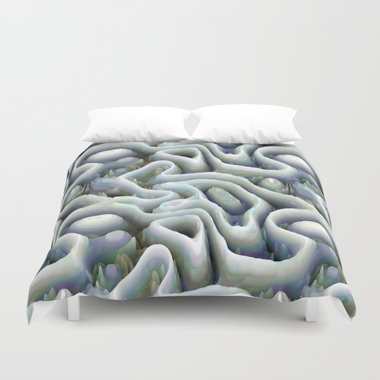Ice Caves Duvet Cover