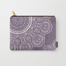 Mandala Tulips in Lavender ad Cream Carry-All Pouch