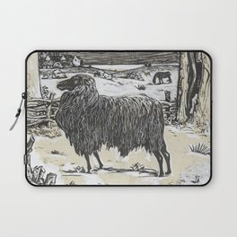 Sheep in a landscape , Richard Roland Holst, 1878 Laptop Sleeve