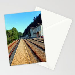 Haslach railway station | architectural photography Stationery Cards
