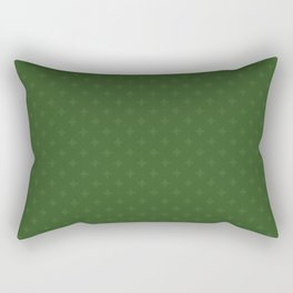 Christmas Heart Snowflakes Pattern Rectangular Pillow