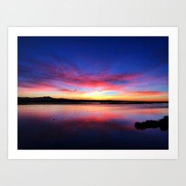 Bolsa Chica Sun Rise Art Print
