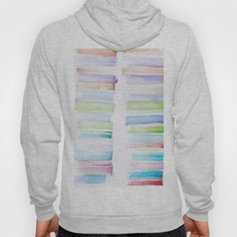 27  | 181101 Watercolour Palette Abstract Art | Lines | Stripes | Hoody