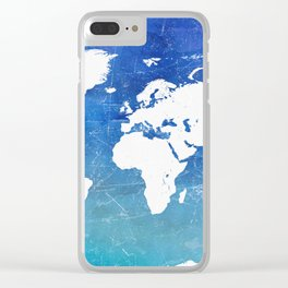 World map. Great adventure Clear iPhone Case