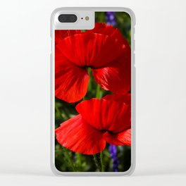 poppy -5- Clear iPhone Case