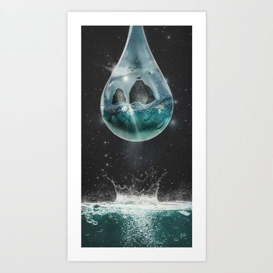 Universe's Tear Art Print