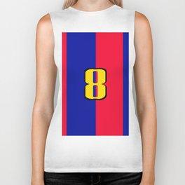 soccer team jersey number eight Biker Tank