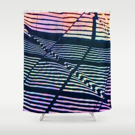 Colorful Geometric Abstract Design Shower Curtain