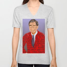 Fred Rogers is your Neighbor Unisex V-Neck