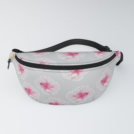 White Hibiscus flowers pattern Fanny Pack