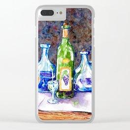 The Green Bottle Clear iPhone Case