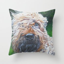 Soft-coated Wheaten Terrier from an original painting by L.A.Shepard Throw Pillow