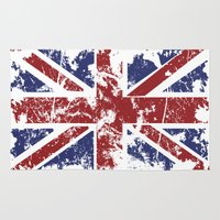 uk Area & Throw Rugs featuring Grunge UK by Sitchko Igor