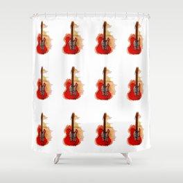 guitar pattern Shower Curtain