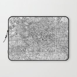 Vintage Map of Berlin Germany (1877) BW Laptop Sleeve