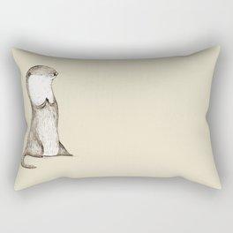Sitting Otter Rectangular Pillow