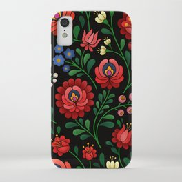 Hungarian flowers iPhone Case