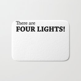 There are FOUR LIGHTS! Bath Mat