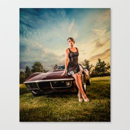 Glamour vette Canvas Print
