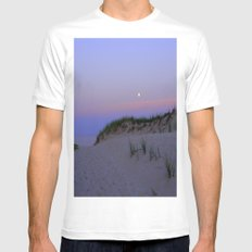 Nighttime at the Beach MEDIUM Mens Fitted Tee White