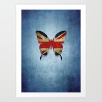 union jack Art Prints featuring union & jack by Steffi Louis