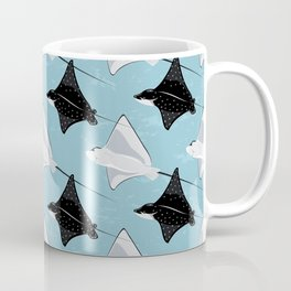 Eagle rays on blue Coffee Mug