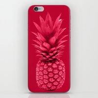pineapple iPhone & iPod Skins featuring Pineapple by Simi Design