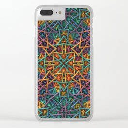Colorful Fractal Pattern Clear iPhone Case