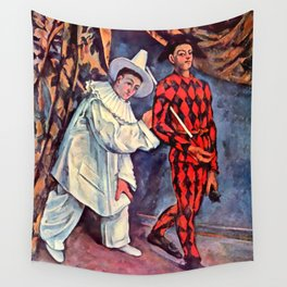 """Paul Cezanne """"Pierrot and Harlequin (Mardi gras)"""", 1888 Wall Tapestry"""