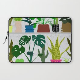Plants on the Shelf in Gray + White Wood Laptop Sleeve