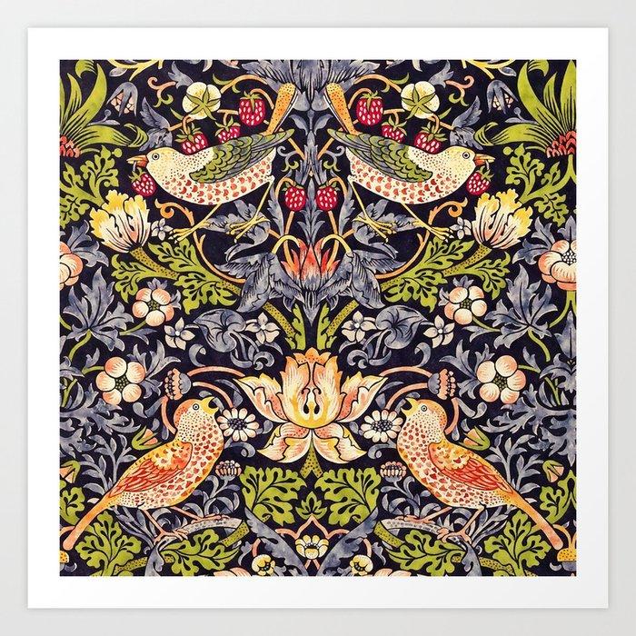 William Morris Strawberry Thief Art Nouveau Painting Kunstdrucke