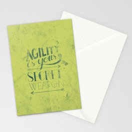 Agility is your secret weapon Stationery Cards