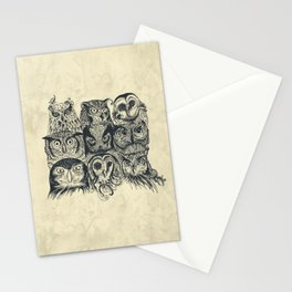 Nine Owls Stationery Cards