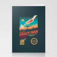 danny ivan Stationery Cards featuring Crazy Ivan by Victor Vercesi