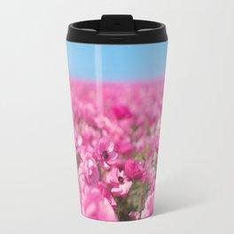 Field of Pink Flowers Travel Mug