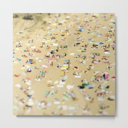 Tilt Shift Beach Photo Metal Print