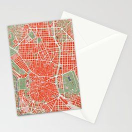 Madrid city map classic Stationery Cards