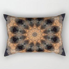 Burnt orange mandala in metallic bits and pieces Rectangular Pillow