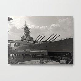 USS Wisconsin (BB-64) Metal Print
