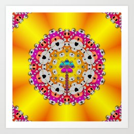 Fantasy flower in tones Art Print