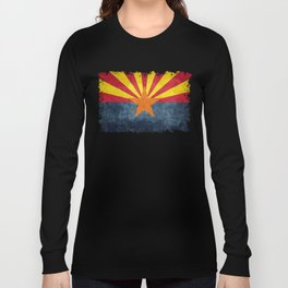 Flag of Arizona, Vintage Retro Style Long Sleeve T-shirt