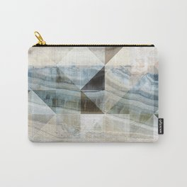 Geo Marble - Natural and Blue #buyart #marble Carry-All Pouch