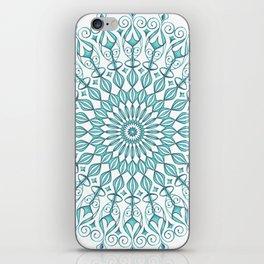 Aqua mandala iPhone Skin