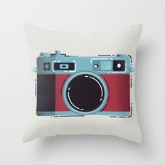 Little Yashica Camera Throw Pillow