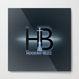 Hookah-Buzz Logo Metal Print